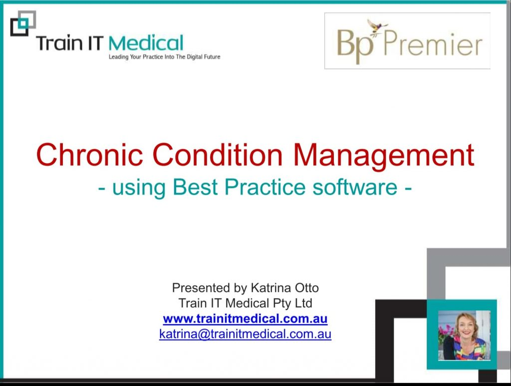 Chronic Condition Management Using Best Practice
