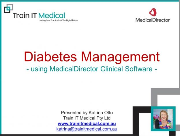 Diabetes Management Using MedicalDirector