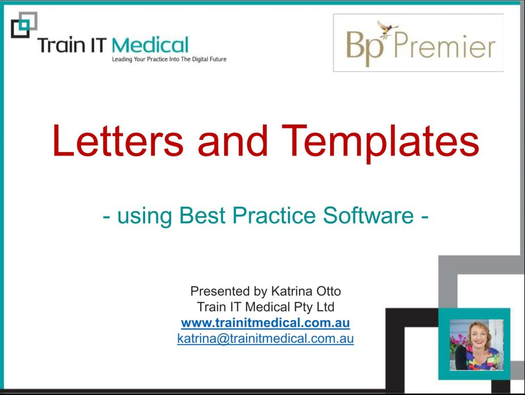 Letters and Templates Using Bp Premier online course