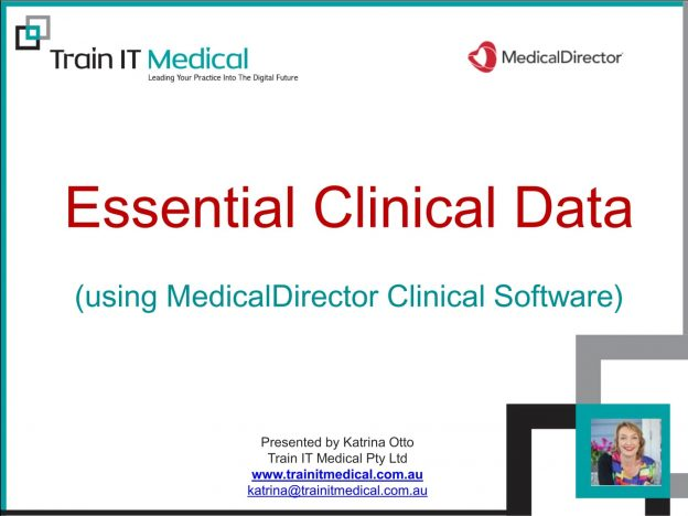 Essential Clinical Data Using MedicalDirector Online Course