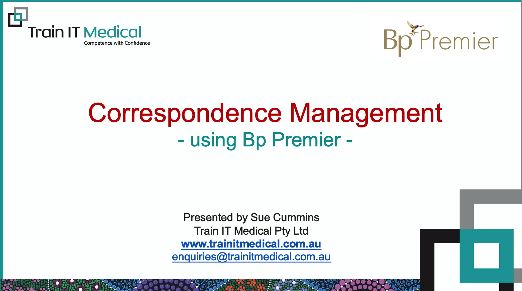 17-Correspondence Management Using Bp Premier